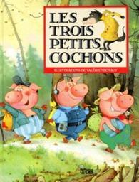 Les Trois petits cochons : d'après un conte anglais / illustrations de Valérie Michaut | Michaut, Valérie. Auteur